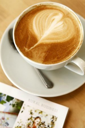 Village Green: Our coffee - Fair-trade, rainforest certified & organic. Most importantly tastes good!