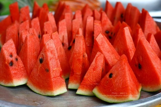 Cooking at Home Thai Culinary School: Watermelon