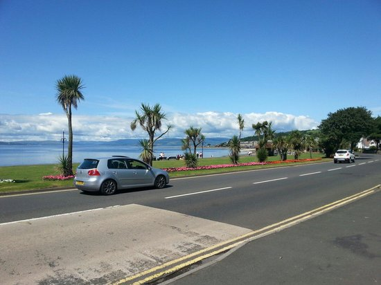 View of the beach from Brisbane House Hotel, Largs.