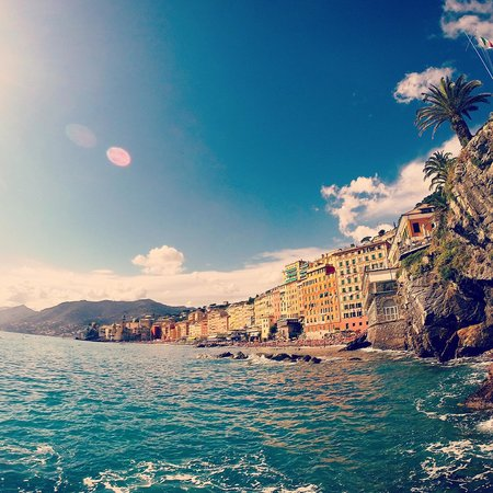 Hotel Cenobio Dei Dogi : Вид с пляжа