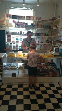 Erewash Museum: Purchasing a bag of sweets