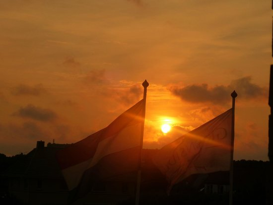 Hotel Greenside: Zonsondergang vanaf het balkon