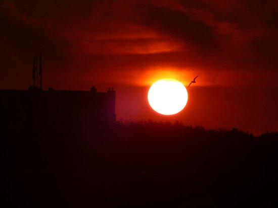 Hotel Greenside: Prachtige zonsondergang vanaf balkon