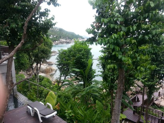 The Kala Samui: The view from the pool down to the sea