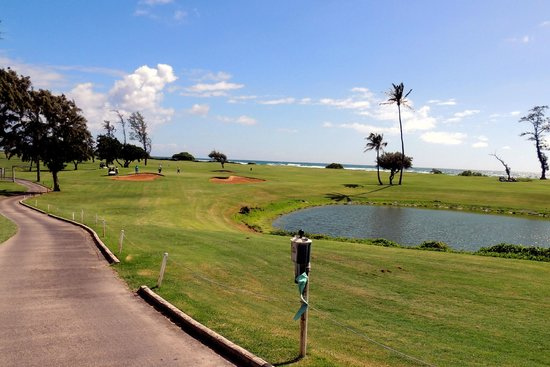 Waiehu Golf Course: front nine view