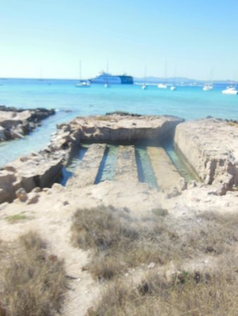 Hostal La Savina: Old fish egg removal site