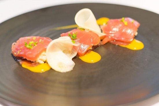L'Essentiel : Thon mariné, crabe et mangue