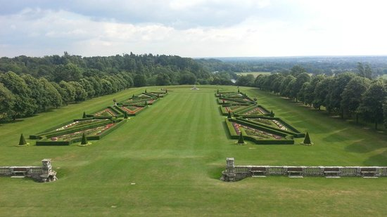 Cliveden House: The view from our bedroom window