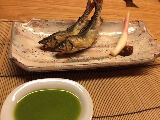 Marunouchi: Delicious and authentic grilled Ayu (river fish).