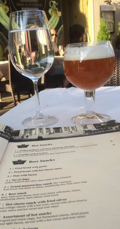 Prie Katedros: My Indian pale ale and the beer menu