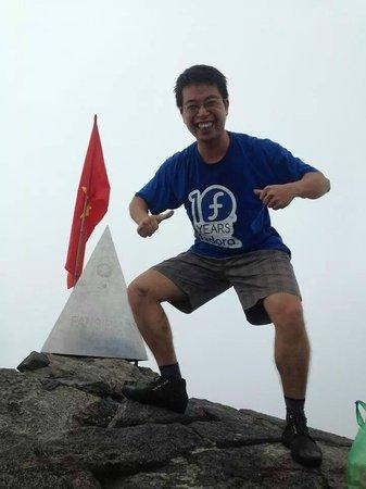 Fansipan Mountain : Me on Fansipan on July 2014