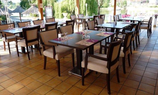 LES JARDINS DE LA SAONE : La terrasse couverte