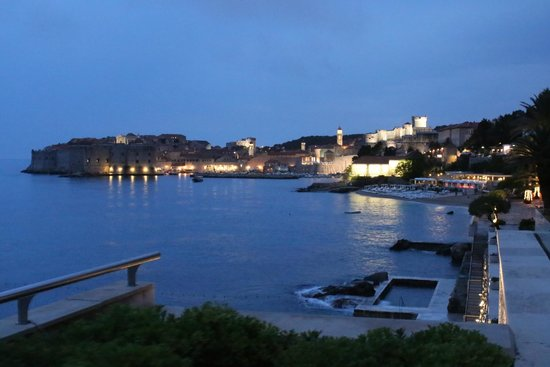 Hotel Excelsior Dubrovnik: From the terrace of the hotel