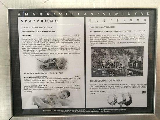 eqUILIBRIA SEMINYAK: Villa Notices