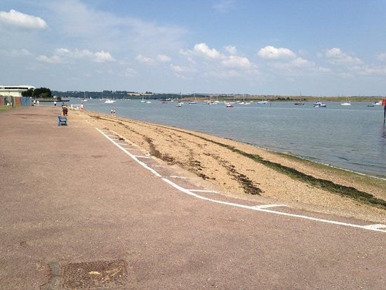 The small beach area a few yards from the park and - The strand swimming pool gillingham ...