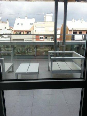 Silken Puerta Valencia: camera con terrazza 706