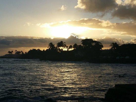 Beach House Restaurant : Sonnenuntergang vom Beach House aus gesehen