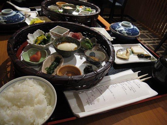 Hotel Metropolitan Yamagata: lots of Yamagata savouries at breakfast