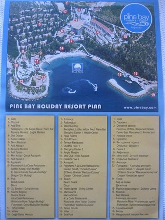 Pine Bay Holiday Resort: карта отеля (!) пьяно бар :)