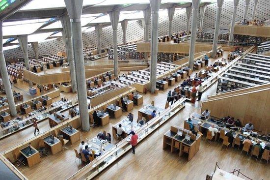 Bibliothèque Alexandrina (Bibliotheca Alexandrina) : مكتبة_الإسكندرية_من_الداخل
