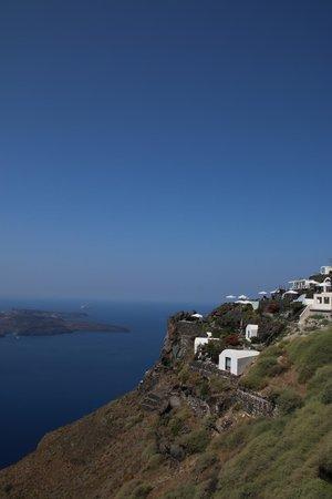 Aqua Luxury Suites: Vue de la terrasse