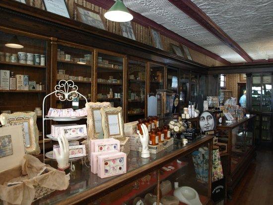 Heritage Park Historical Village : Inside the Pharmacy shop