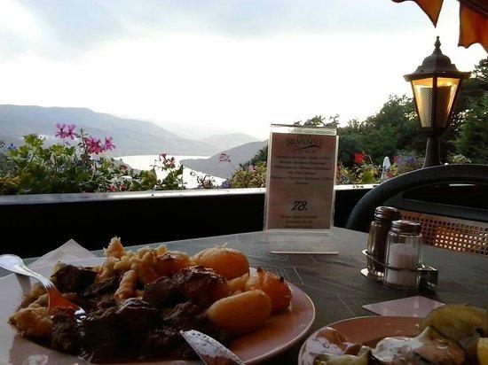 Silvanus Hotel Visegrad: Vacsora panoráma