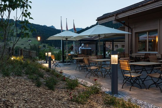 Hotel Spitzhorn: Terrasse