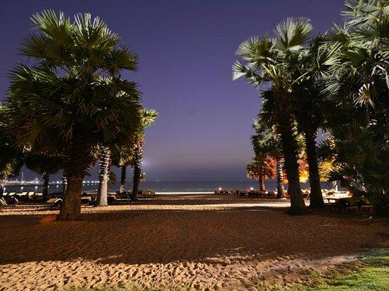 Ravindra Beach Resort & Spa : Beach @ night