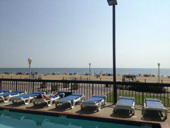 The Breakers Resort Inn: View from the pool.