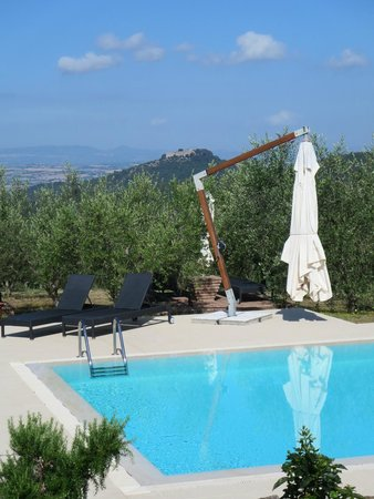 Country House Montali: View from the pool area