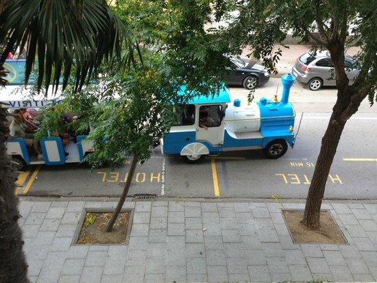 Golden Bahia de Tossa : le petit train qui vous prend au pied de l'hôtel