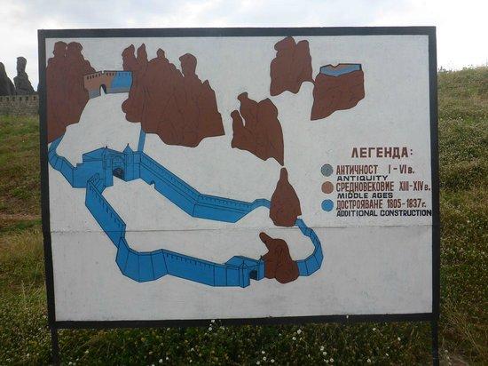 Fortaleza de Belogradchik: Informatie of layout en tijdlijn nabij toegang