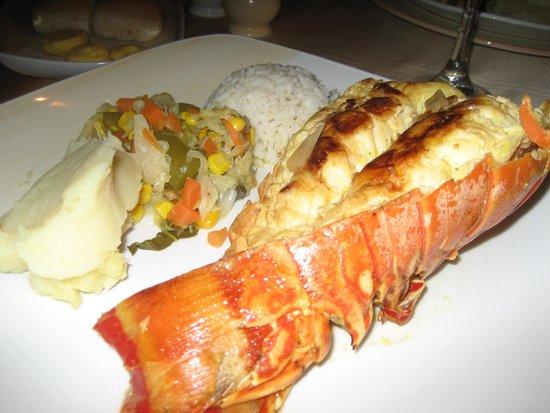 Brisas Trinidad del Mar: lobster meal a la carte