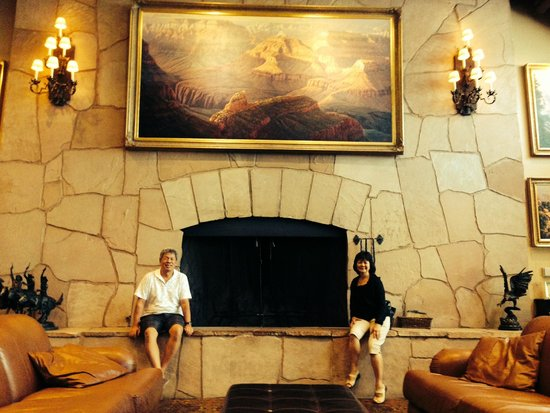 Grand Canyon Railway Hotel: that's one big fireplace!
