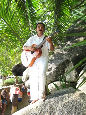 Vallarta Adventures - Las Caletas Beach Hideaway : A little entertainment as we entered Las Caletas