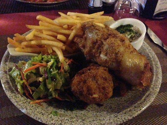 La table des Gourmets : Mon pêché mignon, pied de porc gratiné, une tuerie.