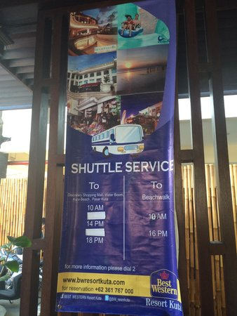 BEST WESTERN Resort Kuta: There is shuttle from and to the hotel