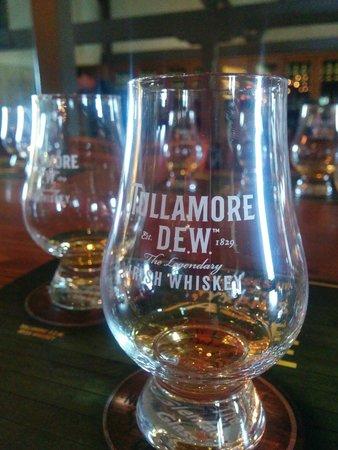 Tullamore Dew: Tullamore whiskey tasting.