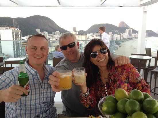 Pestana Rio Atlantica: Rooftop Bar - Deck Lounge Pestana Rio
