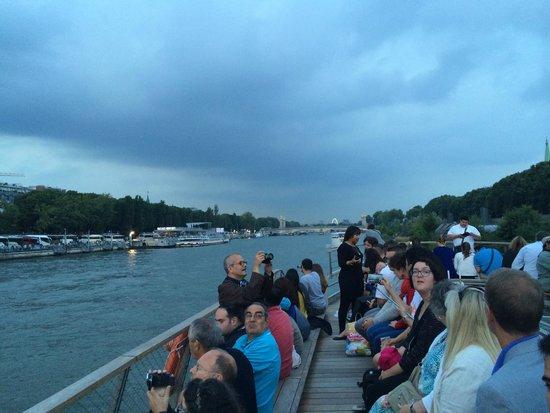 La Seine : 船の上は、こんな感じ