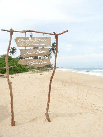 Cinnabar Resort: Вид с пляжа курорта