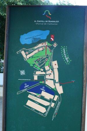 Guadalest Valley: mapa del pueblo