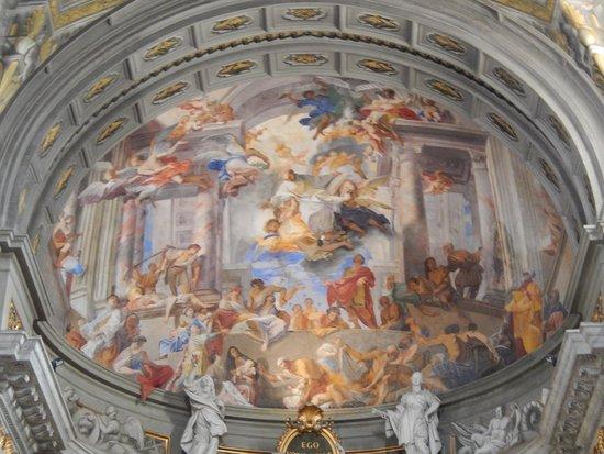 Chiesa di Sant'Ignazio di Loyola: sant'ignazio - affresco absidale