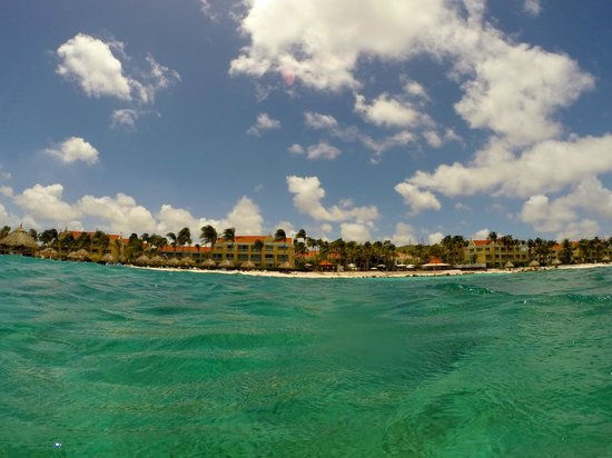 Curacao Marriott Beach Resort & Emerald Casino: View of the resort from the water