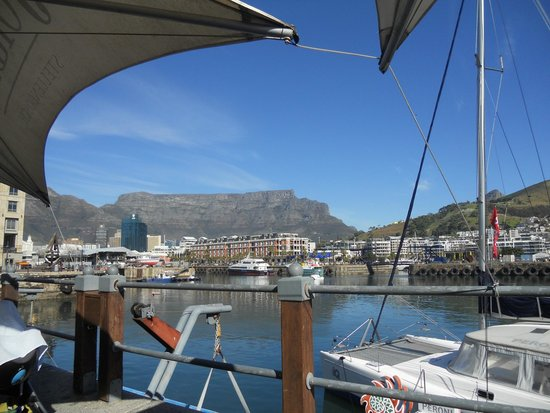 Den Anker: view from lunch outside