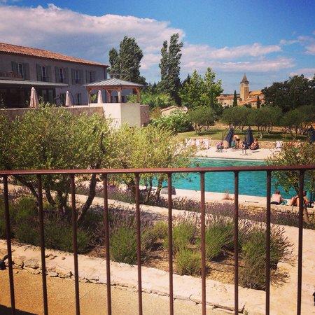 Les Jardins de Saint-Benoit : Vue depuis les villas