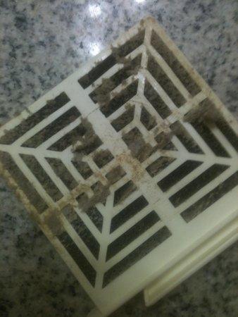Sands Ocean Club Resort: Dirty Air Filter In Bathroom Of Room 301