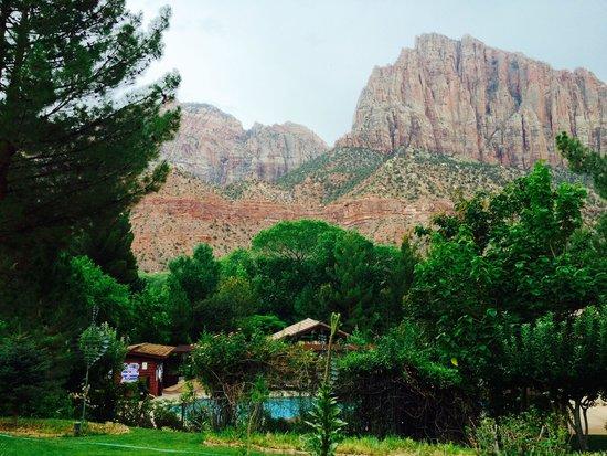 Cliffrose Lodge & Gardens: Blick aus den Zimmern