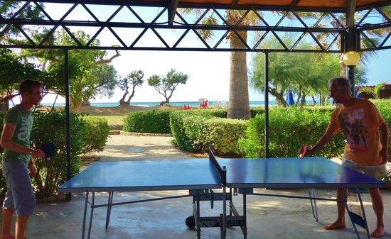 Fiesta Hotel Garden Beach: espace tennis de table